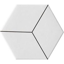 RHOMB WHITE M.(3D035) 20X23*A 23x20 cm Boonthavorn Ceramic Gelato