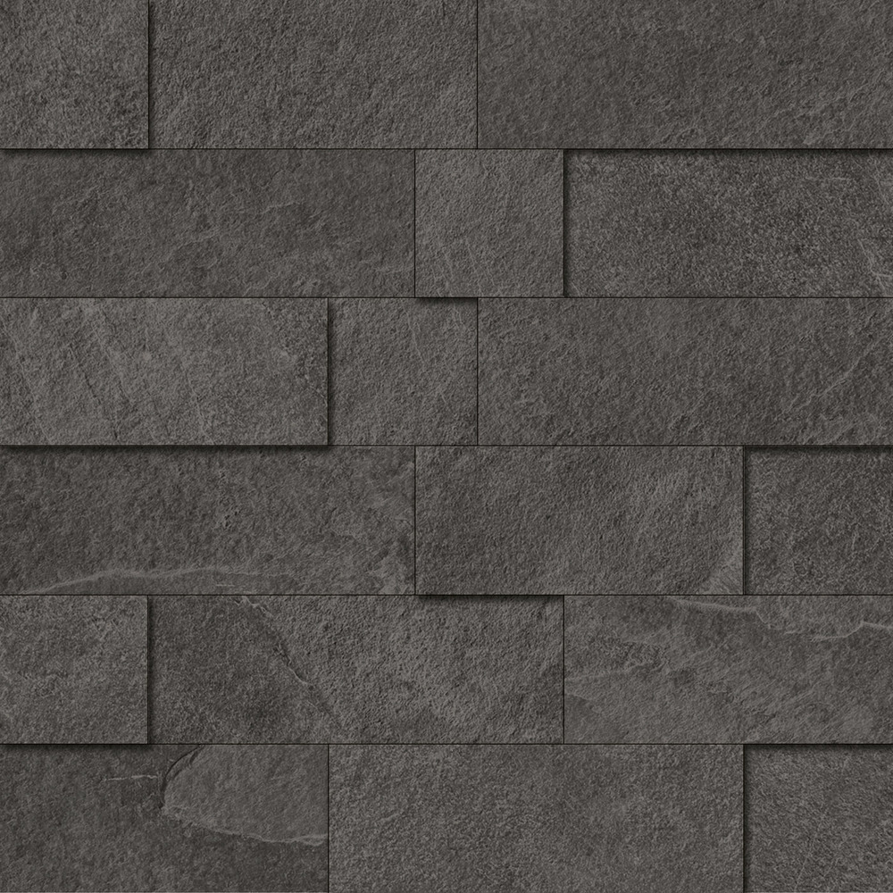 29x29 mosaico 3d slate black nat rett - Ergon piastrelle ...
