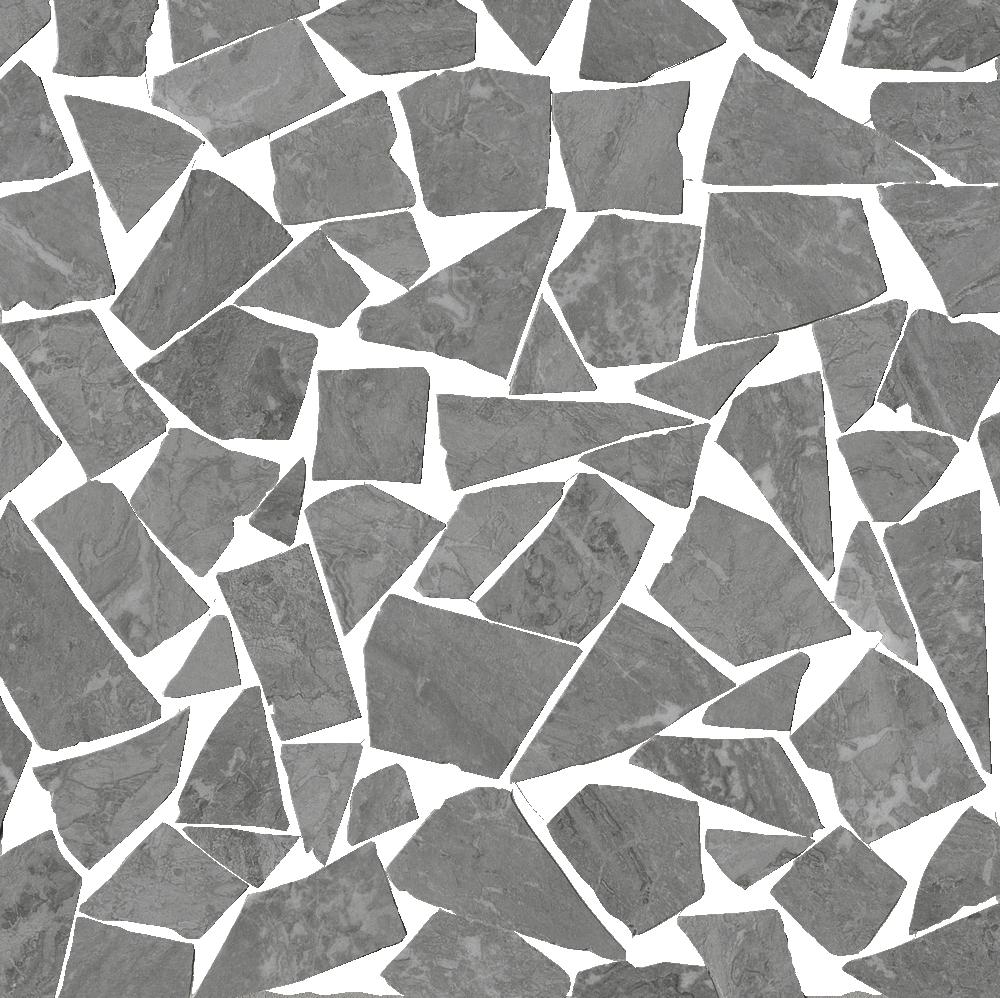 Roma Diamond Fap Ceramiche grigio schegge mosaico brillante - collection roma diamond