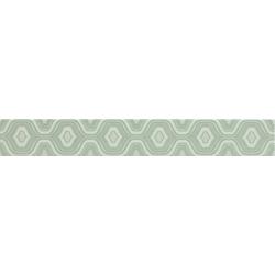 DDE09LG DELICATE LISTELLO GEO VERDE 50,2x6,5 cm Dom Ceramiche Delicate