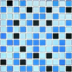 "CLASSIC BLUE (1"") 12X12 A 30x30 cm Boonthavorn Ceramic Advanced Glasstiles"