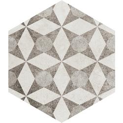 Vintage+ Esagona Decoro Epoque 21x18.2 18.2x21 cm Ermes Ceramiche Vintage+